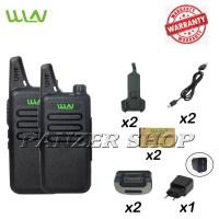 Panzer HT Walkie Talkie WLN Two-Way Radio (isi 2pcs)-Hitam