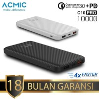 Powerbank ACMIC C10 PRO 10000mAh Quick Charge 3.0 & Power Delivery