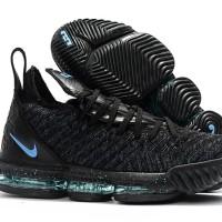 4e9d16473cc Sneakers Sepatu Basket Premium Murah Nike Lebron 16 Black Blue