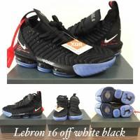 7c17dd0b12b Sneakers Sepatu Basket Premium Murah Nike Lebron 16 Off-White Black
