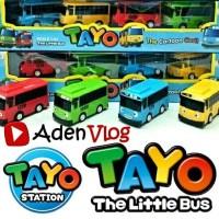 Bis Tayo The Little Bus Pull Back 4 Pcs -- Mainan Anak Cerdas Kreatif