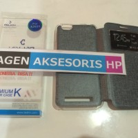 Case Casing Flip Lenovo Vibe C A2020 Leather Sarung HP AGH
