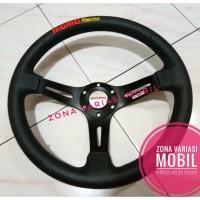 Steer / Stir / Setir Racing Momo 14 Inch Celong HITAM