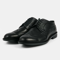 Sepatu Pria Longwing Hitam Heiden Shoes
