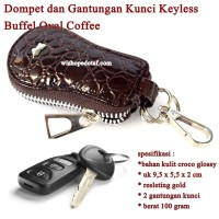 Sarung kunci Resleting Oval BUFFEL COFFEE