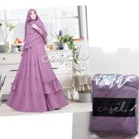 gamis wanita muslim dress syari caseli