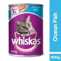 whiskas can kaleng makanan kucing basah ocean fish 400gr 400 gr