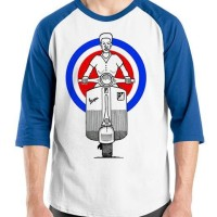 Harga kaos vespa retro 05 baju distro otomotif t shirt oblong | antitipu.com