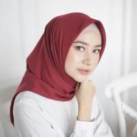 Hijab Segi Empat Polos Jilbab Bella Square Double Hycount Grosir Scarf
