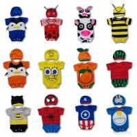 Jumper Kartun Baby Costume Kostum Bayi Set Topi Lucu
