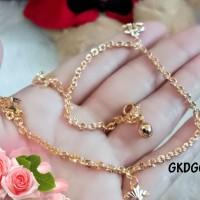 Harga gkdg01 gelang kaki warna gold perhiasan aksesoris lapis email | antitipu.com