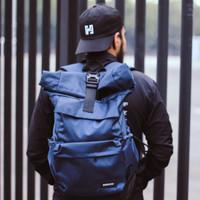 TAS BACKPACK FASHION / RUCKSACK BAG RUSELL (NAVY BLUE)
