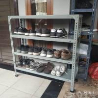 Premium rak sepatu dari besi siku