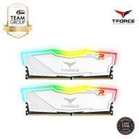 Team Memory Delta Tforce RGB 2x4GB PC 3000 DDR4 - White