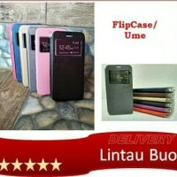 Ume Andromax E2 Flip Shell Cover Leather Sarung HP
