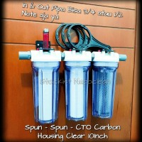 Paket saringan air 2 set gojek (keruh berbau kaporit,bau tanah)