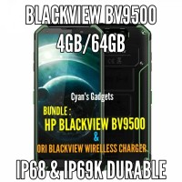 HP 4G BLACKVIEW BV9500 + BLACKVIEW ORIGINAL WIRELLESS CHARGER PAD
