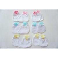 Pakaian Bayi 1 Lusin Sarung Tangan Kaki Bayi Murah Grosir (Isi 12