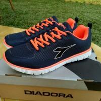 Jual ORIGINAL 100% Sepatu Running Pria Diadora Dillon Navy Orange Murah