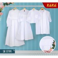 [KOKO TERLARIS] (Gamis dan Koko Dewasa) Baju Putih Keke Sarimbit Coupl