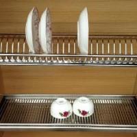 Promo Huben Rak Piring Dish Rack Stainless Steel 80cm Limited p