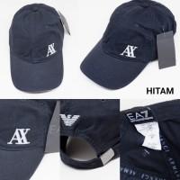 Harga topi base ball armani exch ea7 black 5 colour import unisex | antitipu.com