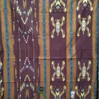 Sarung BHS SGE Sutera 50% GOLD warna Coklat Kayu