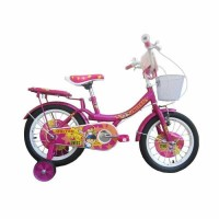 New sepeda anak mini best seller 16 united pom pom pink Kuat