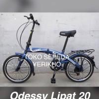 New Sepeda Lipat Terbaru 20 Odessy Shimano 7 speed Rem V Brake Kuat