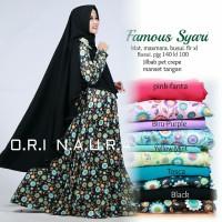 Best Quality Setelan Gamis Muslimah + jilbab (FAMOUS SYARI) Ori Ori