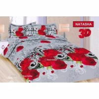 Set Bed Cover / Bedcover Bonita King 180 x 200 Motif Natasha