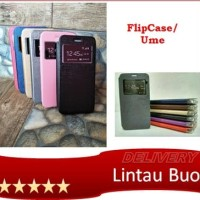 Ume Andromax B Flip Shell Cover Leather Sarung HP