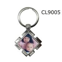 Gantungan Kunci Metal Diamond Custom Pasang Foto Sendiri CL9005