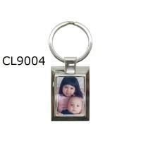 Gantungan Kunci Metal Persegi 2 Custom Pasang Foto Sendiri CL9004