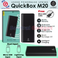 Powerbank Uneed QuickBox M20 20000mAh Quick Charge 3.0 Fast Charging