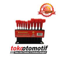 T-Handle Hex Key Set 10 Pcs 2-10mm MAXPOWER Kunci T / Kunci L Model T
