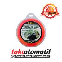 Senar Mesin Potong Rumput / Grass Trimmer Line Square 2.4MM 80M Mollar