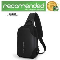 Mark Ryden Tas Sling Bag dengan USB Charger Port - MR7056 - Hitam
