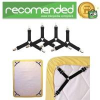 Penjepit Ujung Sprei Kasur Bed Sheet Clip Holder 4PCS - Hitam