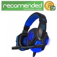 NDJU Gaming Headphone LED Deep Bass with Mic - Hitam