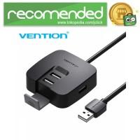 Vention USB Hub 2.0 4 Port dengan Micro USB Power Supply - Hitam