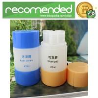 Botol Sabun Sampo Travel 45ml - Biru