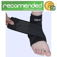 AOLIKES Pelindung Engkel Tumit Ankle Support Sport Fitness - Hitam