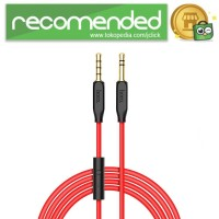 HOCO Kabel AUX Spring Style 3.5mm 1 Meter with Mic - UPA12 - Hitam