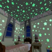 STAR WALL STICKER STIKER DINDING BINTANG Glow In The Dark Kamar Anak