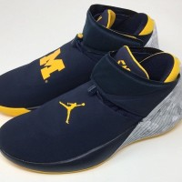 360d8e1d12ec Nike Air Jordan Why Not Zero 1 Michigan Navy High Premium Original