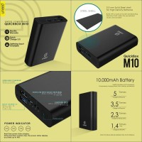 Powerbank Uneed Quickbox M10 10000mAh Power Bank Quick Charge 30