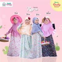 Gamis Dress Anak Syari Motif Bunga Katun Jepang Premium Size XL
