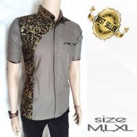 baju kemeja batik pria kombinasi prada 728f6156d2