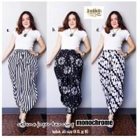 Batik Solo Celana Joger Kancing Monochrome Kode EBD Batiek Batik